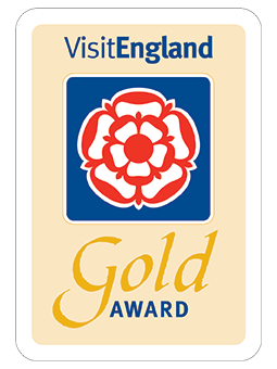 VisitEngland Gold Award sign for Selworthy Cottage